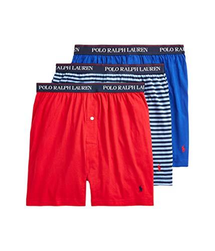 Polo Ralph Lauren 3er-Pack Boxershorts., Rl2000 Red/Cabana Blue Cruise Navy Stripe/Royal Blue, X-Large