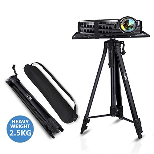 Projector Stand,Laptop Stand,Aluminum Multifunction Tripod Stand with Tray Adjustable Tripod Laptop Projector Stand, 20' to 55' Universal Device Stand...