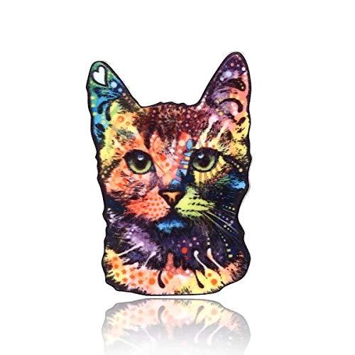 Acrylic Printing Animal Brooch Lovely Dog Cat Bird Horse Elephant Butterfly Badges Pin Collar Pins Women Men Jewelry-5