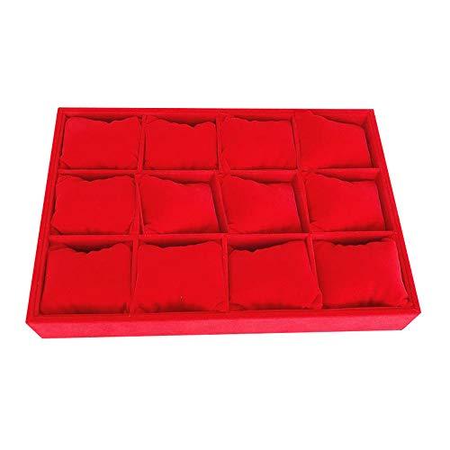 watch box Armbanduhr Verpackungsbox Glasschale Aufbewahrungsbox Haushalt große Kapazität mit Deckel Kissen Schwamm Displayständer transparent