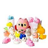 LAEGENDARY Mochi Squishy Toys - Lot de 20 Squishies Et 1 Hibou Jumbo Squishie Slow Rising - Chat Mochi Squichy, Panda Moelleux, Animaux Mochi - Squishies Jumbo Kawaii