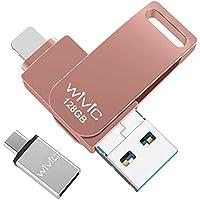 WIVIC 128GB USB 3.0 Flash Drive (Pink)