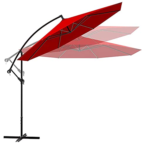 Cantilever Patio Offset Hanging 10-ft Umbrella Only $69.99 (Retail $139.99)