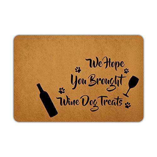 Wine And Dog Treats Doormat