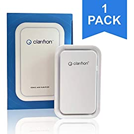 Clarifion - Negative Ion Generator with Highest Output (1 Pack) Filterless Mobile Ionizer & Travel Air Purifier, Plug in… 1 For use in: Bedrooms, Corridors, Bathrooms, Living Rooms, Staircases, and Other Spaces/Rooms. Removes Bacteria & Viruses | Reduces Allergens | Relieves Congestion | Chemical Free | Helps reduce Asthma | Cleaner Air Eliminates Dust, Smog, Smoke, Allergens, Pet Dander, & Bacteria to help keep air Fresh & Clean | Smart design with LED indication