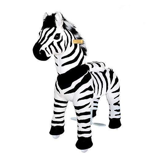 PonyCycle Oficial 2019 Nueva U Series Ride on Horse Toy Peluche Animal Caminante Zebra U4 para edades 4-9 U468