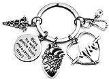 Cardiac Nurse Keychain Cardiac Nurse Gift Heart Doctor Cardiologist Nurse Practitioner Medical...