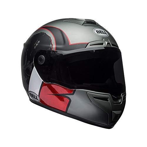 BELL Motorradhelm Hart Luckgr Charcoal/White/Red, Größe L 7092334