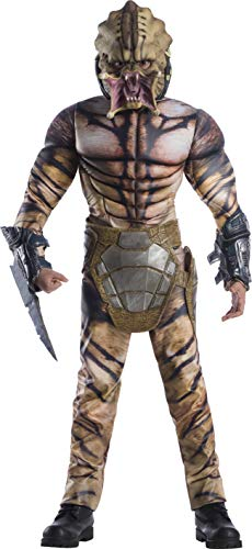 Rubie's Teen Predator Movie Deluxe Predator Adult Sized Costumes, As Shown, Teen US