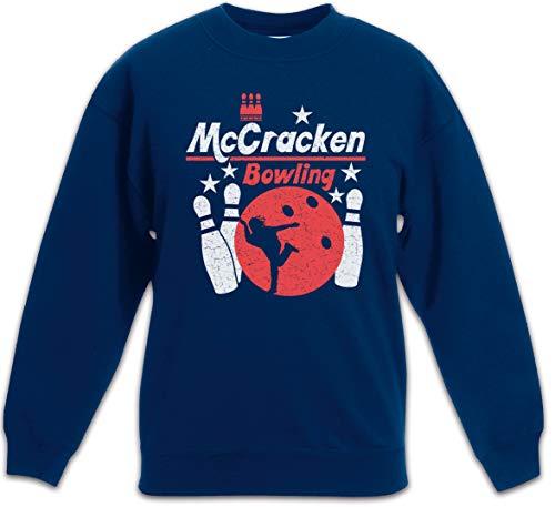 Urban Backwoods Mccracken Bowling Kinder Jungen Mädchen Pullover Blau Größe 10 Jahre