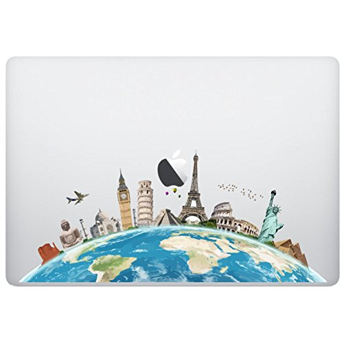 Laptop Notebook Computer Sticker Decal - World map - Skins Stickers