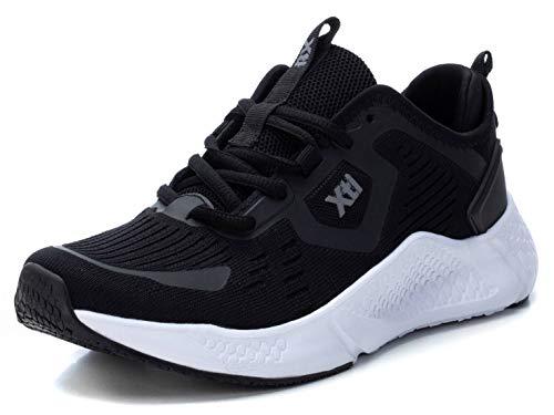 XTI - Zapatilla para Mujer - Cierre con Cordones - Color Negro - Talla 39