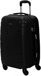 Senator Hard Shell Luggage Lightweight ABS, Luggage with Spinner Wheels 4 - A1012 (24, Black)