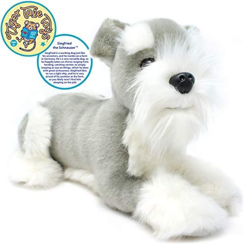 VIAHART Siegfried The Schnauzer | 12 Inch Stuffed Animal Plush Dog | by Tiger Tale Toys