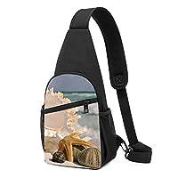 貝殻 ワンショルダーバッグ クロスボディバックパック ボディバッグ 斜めがけ バッグ おしゃれ 男女兼用 軽量 大容量