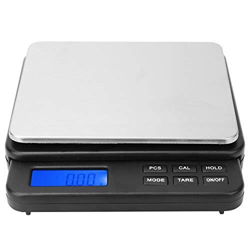 Balanza de peso 1000g/0.01g Balanza digital de alta precisión, Balanza eléctrica de cocina, para cocinas, laboratorios, etc.(Negro)