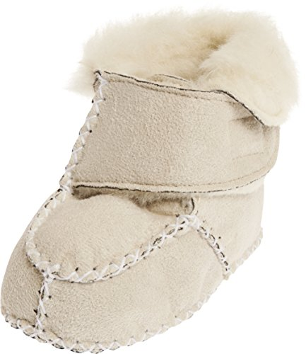 Playshoes Baby-Hausschuhe mit Klettverschluss, Beige (natur 2), 18/19 EU