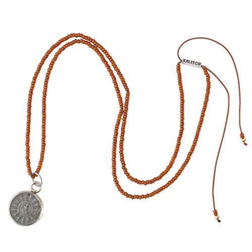 KELITCH Seed Beaded Necklaces For Men Women Handmade Sakyamuni Buddha Prayer Charm Pendant Necklace Lucky Jewelry Gifts