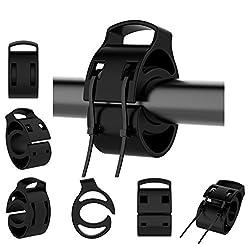 Lichifit - Kit di montaggio universale per orologi sportivi GPS su manubrio per bicicletta, in silicone, per orologio GPS Garmin Forerunner TomTom Polar Suunto