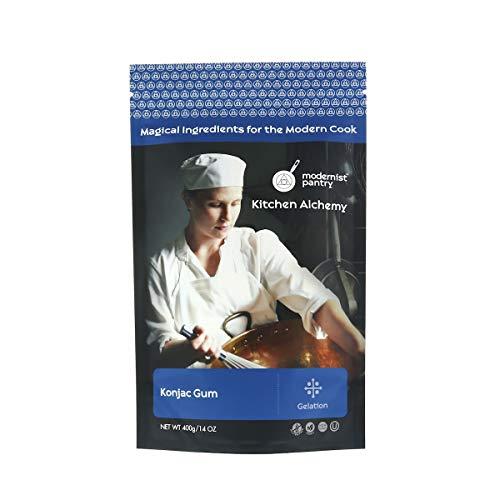 Pure Konjac Gum [Glucomannan Powder] ⊘ Non-GMO ❤ Gluten-Free ☮ Vegan ✡ OU Kosher Certified - 400g/14oz