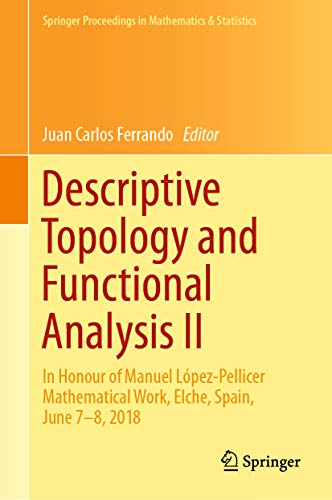 Descriptive Topology and Functional Analysis II: In Honour of Manuel López-Pellicer Mathematical...