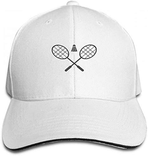 IMERIOi Unisex Trucker Hat Cap Cotton Adjustable Baseball Dad Hat Badminton icon Flat Black White Background Watermark Multicolor33668