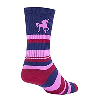 Sockguy Calcetines unisex de unicornio, Unisex, Calcetines, SGCRPINKUNI, azul/rosa, S-M
