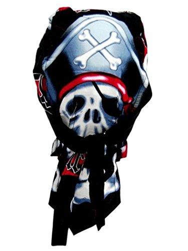 Bandana casquette motif capitaine pirate crâne