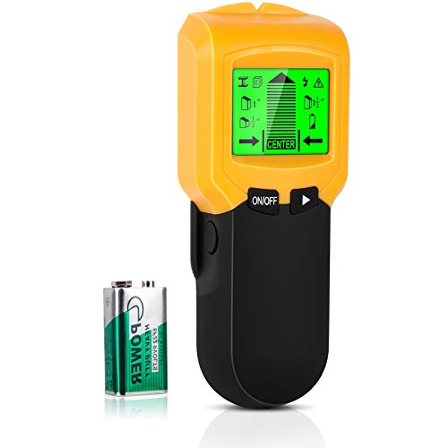 Stud Finder Sensor Wall Scanner 5 in 1 Electronic Stud Sensor Beam Finders Wall Detector Center Finding with LCD Display for Wood Metal Studs AC Wire Joist Detection