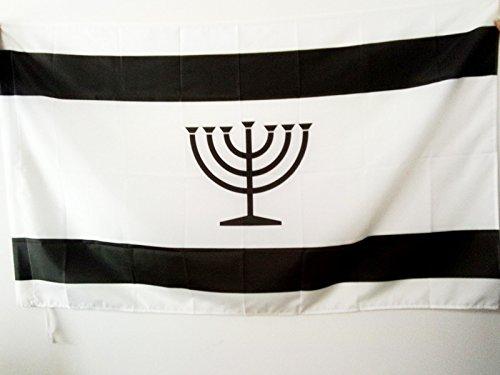 AZ FLAG Flagge JIDDISCH 90x60cm - JÜDISCH-DEUTSCH Fahne 60 x 90 cm Scheide für Mast - flaggen Top Qualität