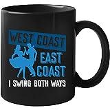 West Coast East Coast I Swing Both Ballroom Dancing Mug 11oz black