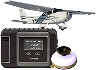 SatPhoneStore Iridium GO! Aviation Package with Aviation Antenna, Mount and 400 Minute Prepaid SIM Card Ready for Easy Online Activation