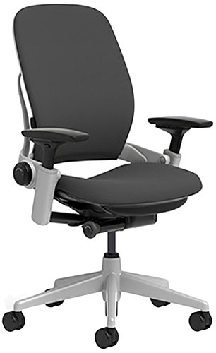 Steelcase Leap Chair with Platinum Base & Hard Floor Caster, Black