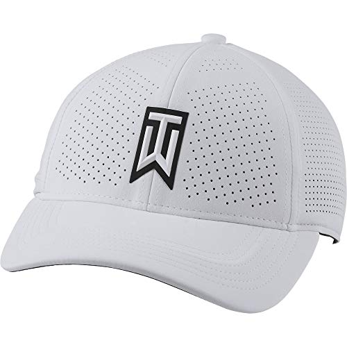 Nike TW U CW6792 Nk Arobill H86 Casquette de golf perforée unisexe - Blanc - M/L