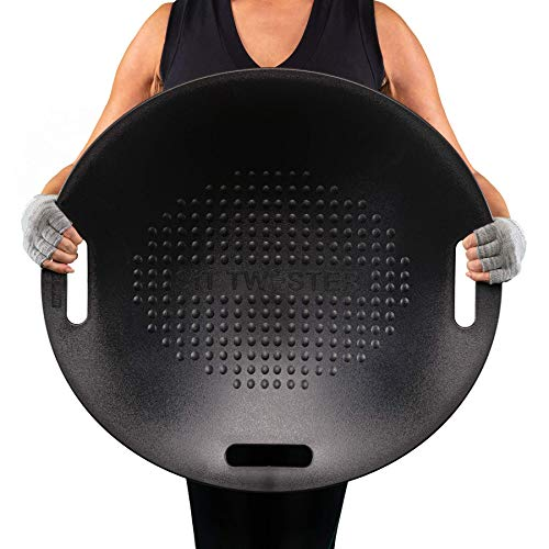 SIT TWISTER Exercise Twist Disc - Improve Posture, Core Strength, and Muscle Tone - Fun, Easy to Use Fitness Equipment - Ab Workout Fit Board (Black)