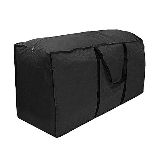 RRigo Bolsa de Almacenamiento para Muebles de Terraza, Exterior Jardín, Impermeable, Ligero, Bolsa, Acolchado, Bolsa, Negro