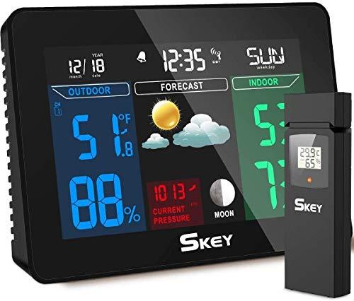 SKEY Estación meteorológica WiFi con Control Remoto y alarmas, 1