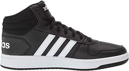 adidas Men's Vs Hoops Mid 2.0 Basketball Shoe, Black/White/Black, 11 M US