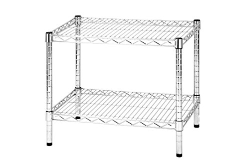 ARCHIMEDE Sistema Part Estantería 2baldas, Metal, Cromado, 61x 46x 50cm