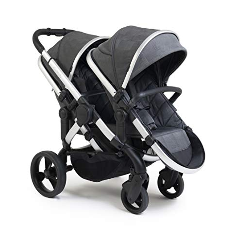 iCandy Peach Satin Dark Grey Check Pushchair & Carrycot Double,IC2265