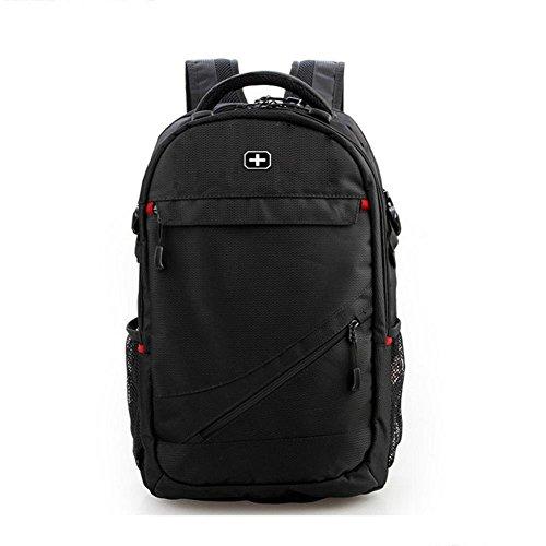 beibao shop Mochila – Mochila para portátil de 15 pulgadas de nailon para viajes de negocios, mochila escolar para hombres, 15
