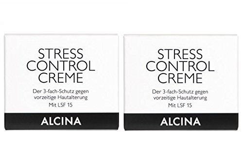 2er Stress Control Creme pflegende Kosmetik Alcina 3 Fach Schutz je 50 ml = 100 ml