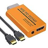 LiNKFOR Convertidor Wii a HDMI con Salida Jack 3.5 mm 1080P 720P 480P Adaptador Wii a HDMI con Cable HDMI Wii2HDMI Compatible con Todos Los Modos de Pantalla Wii