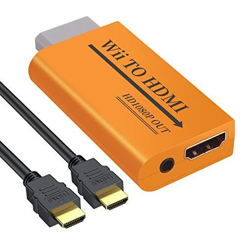 LiNKFOR Convertidor Wii a HDMI con Salida Jack 3.5 mm 1080P 720P...