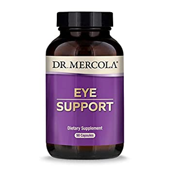 Dr Mercola Eye Support with 10 mg of Lutein Dietary Supplement 90 Servings  90 Capsules  Non GMO Gluten Free