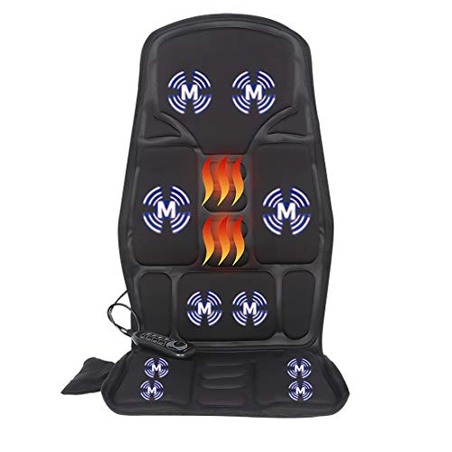 Vibrating-Back-Massager with Heat, Massage-Chair-Pad, Seat Massager Cushion with 10 Vibration Nodes to Release Stress and Fatigue for Home Office Use