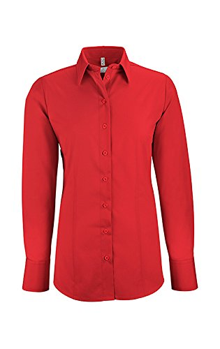 GREIFF Damen-Bluse Basic, Regular Fit, Stretch, Easy-Care, 6515, Farbe: Rot, Größe: 42