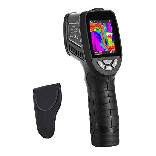 "Thermal Imaging Camera-Handheld Infrared Camera w/Real-Time Thermal Image,Infrared IR Resolution 1089pixels-Temperature Measurement Range -2°C-380°C,IR Thermal Imager,2.5"" TFT Color Screen Display"