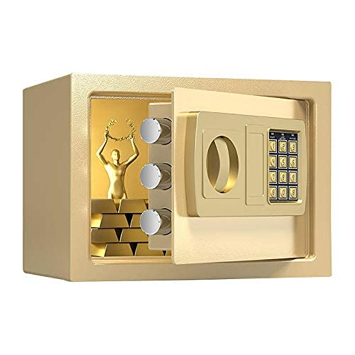 ZAKRLYB Safe Piggy Bank Antirrobo Antirrobo Llave de metal o contraseña para abrir la caja fuerte en el escritorio de gran capacidad, Caja de contraseña, Hucha de niño, Decoración del hogar para