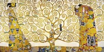 Art-Galerie Leinwandbild Gustav Klimt - Lebensbaum - 100 x 50cm - Premiumqualität - Klassische...
